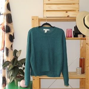 H&M blue bishop sleeve sweater